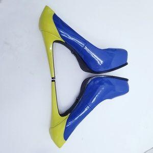 Simply Vera Wang Svdaniblue platform heels